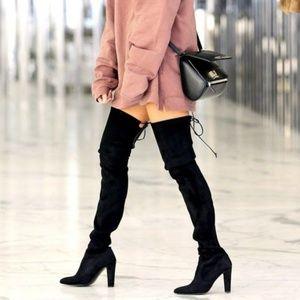 JustFab Philipa Black Over The Knee Boots